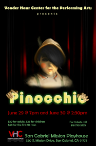 Pinocchio Vonder Haar Center at Mission Playhouse