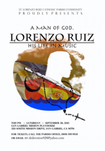 St. Lorenzo Ruiz Church Musical at the San Gabriel Mission Playhouse