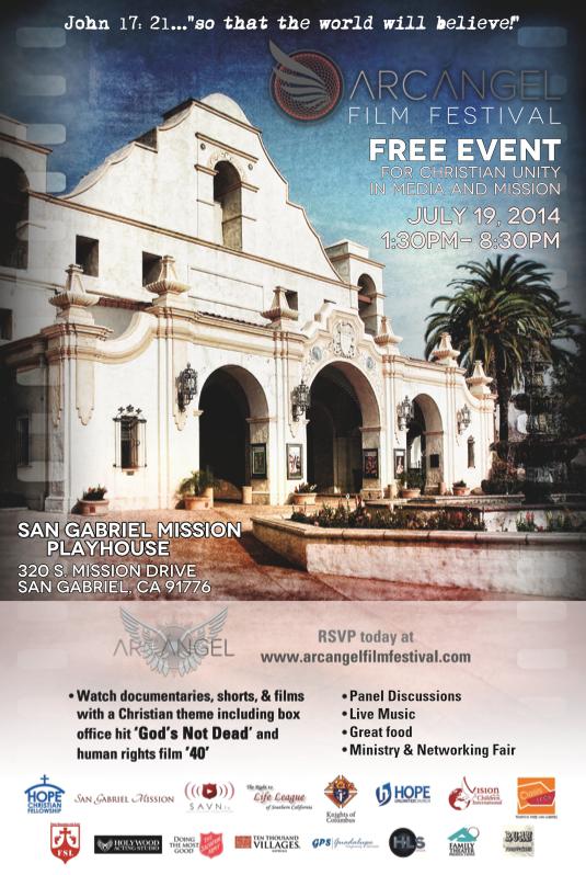Arcangel Film Festival at the San Gabriel Mission Playhouse