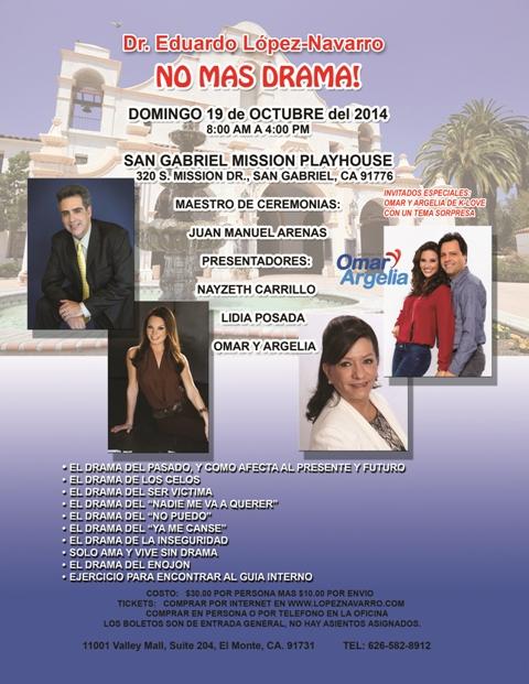 No Mas Drama Seminar at the San Gabriel Mission Playhouse