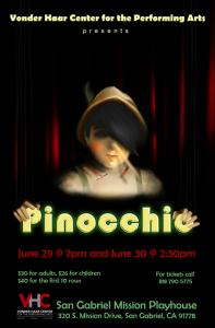 Pinocchio Vonder Haar Center at Mission Playhouse