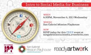 Social Media Seminar at the San Gabriel Mission Playhouse